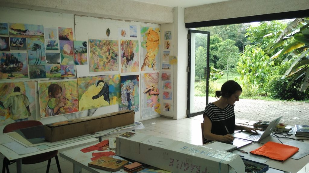 Laura Wills (AUS) in her studio in February 2017