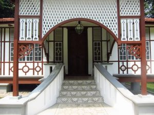 Front landing and steps of the Penang house