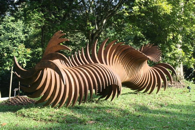 'Sixty Turns' by former resident artist Abdul Multhalib Musa, on the lawn at Rimbun Dahan.