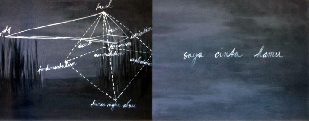 Saya Cinta Kamu, 2005, Acrylic on canvas, 100 x 130 cm x 2.