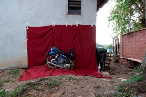 Kuang Road Prayer - work in progress, Malaysia, July 2010 C type print, 29.9 x 42cm. By Anthony Pelchen