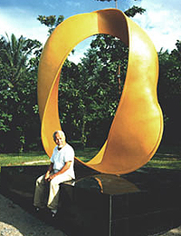 Pak Ahmad and his creation.