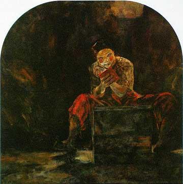 'Private rites' oil on canvas, 1994, 92 x 92 cm