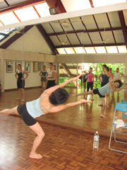 Above: Joey Chua conducting a workshop in Horton technique on Dance Day.