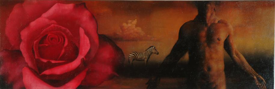 Ahmad Zakii Anwar Breath 2003 oil on canvas 68 x 200 cm