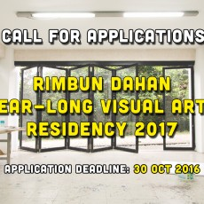 Open Call: Year-Long Residency for Malaysian Visual Artists 2017
