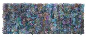 ETERNITY, 2016, 214cm (diameter) x 40cm PET bottles, spray paint, beads, and glitters on wire mesh