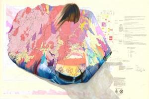 Piece, 2012, Pastel on paper, 98x65 cm