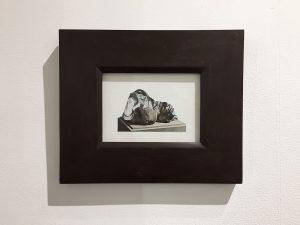 Drapery Studies 2, collage, 2016, 12.7 x 17.78 cm