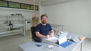 Christopher Strong in his Rimbun Dahan studio