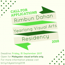 Open Call: Yearlong Residency for Malaysian Visual Artists 2018