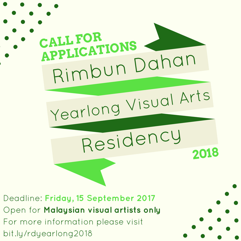 Poster for yearlong visual arts residency 2018