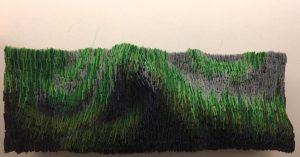 Untitled, 2016 acrylic felt, cardboard, paper and acrylic paint, 70 x 25cm