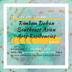 Open Call: Southeast Asian Arts Residency 2019 [CLOSED]