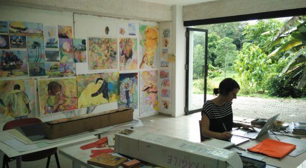 Laura Wills (AUS) in her studio in February 2017