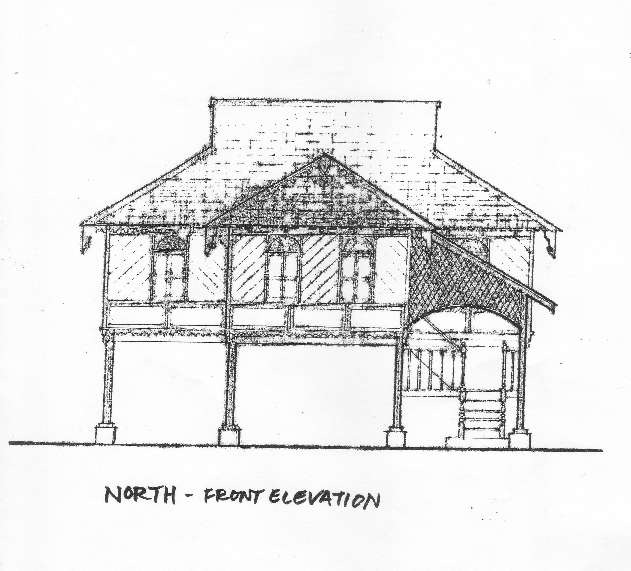 North Front Elevation Of Rumah Uda Manap