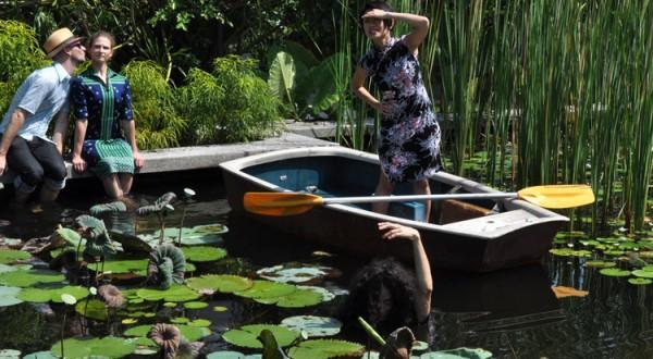 EU&Me in the pond at Rimbun Dahan.